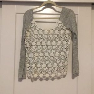 Free people top w lace front